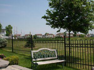 clôture ornementale parc