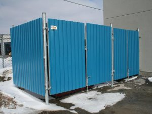 panneau acier bleu